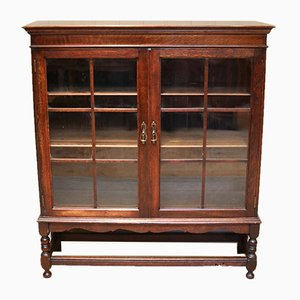 Oak Glazed Bookcase, 1910s