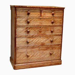 Substantial Satinwood Dressing Chest of Drawers, 1880s
