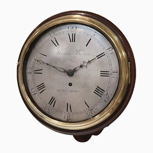 Early 10 Inch Dial Wall Clock, 1800s