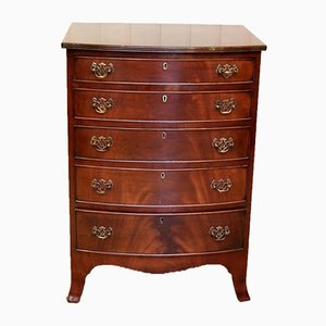 Mahogany Bow Front Chest of Drawers, 1920s