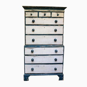 Early 19th Century Painted Pine Chest of Drawers