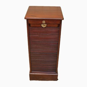 French Mahogany Tambour Front Filing Cabinet