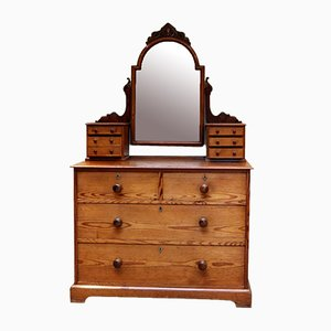 Pitch Pine Dressing Chest of Drawers, 1870s
