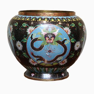 Late 19th Century Chinese Cloisonne Planter