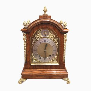 Oak Ting Tang Bracket Clock, 1890s
