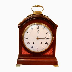 Mahogany Pad Top Bracket Clock, 1890s