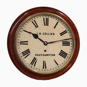 Mahogany Dial Wall Clock, 1880s