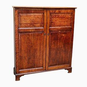 Oak Two Door Side Cabinet, 1910s