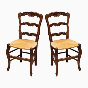 French Oak Dining Chairs, 1910s, Set of 6