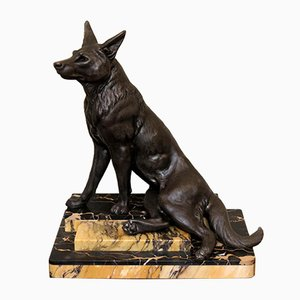 German Art Deco Spelter Shepherd Sculpture, 1930s
