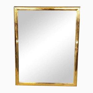 Brass Rectangle Mirror, 1950s