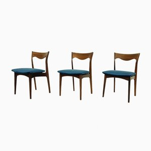 Rosewood AWA Dining Chairs, 1950s, the Netherlands, Set of 3