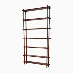 Dark Brown Wooden Bookcase in the Style of Lutjens, the Netherlands, 1950s