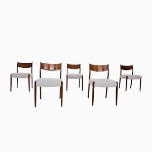 Mid-Century Teak Dining Chairs, the Netherlands, 1950s, Set of 5