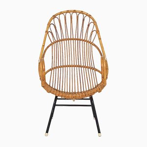 Rattan Lounge Chair from Rohe Noordwolde, the Netherlands, 1950s