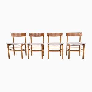 Oak Dining Chairs in the Style of Børge Mogensen, Denmark, 1960s, Set of 4