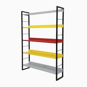 Freestanding Metal Bookshelf by A. D. Dekker for Tomado, the Netherlands, 1960s