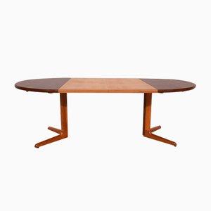 Round Teak Extendable Dining Table from Skovby, Denmark, 1960s