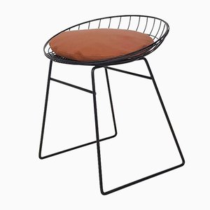 KM05 Metal Wire Stool by Cees Braakman for Pastoe, the Netherlands, 1950s