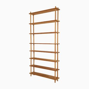 Large Birch Bookcase in the Style of Lutjens, the Netherlands, 1950s
