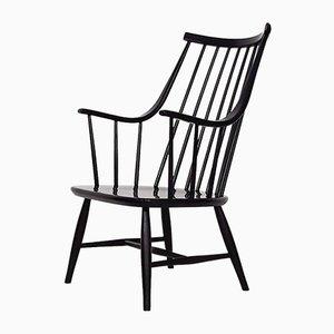 Schwarzer Lounge Stuhl mit Sprossen von Lena Larsson für Nesto, Schweden, 1960er