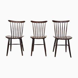 Brauner Stuhl mit Holzspeichen von Pastoe, 1950er