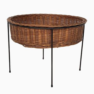 Rattan Plant Stand, the Netherlands, 1950s
