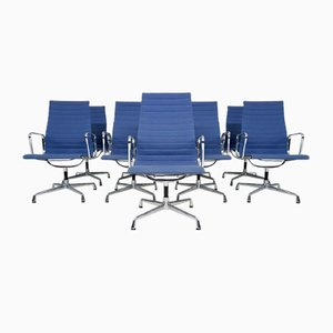 Light Blue EA107 Office Chair by Charles & Ray Eames for Vitra, USA, 1950s