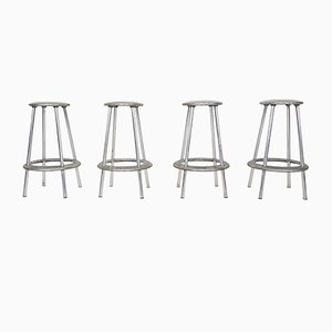 Aluminium Barstools by Amos Marchant and Lyndon Anderson for Allermuir, 1970s, Set of 4