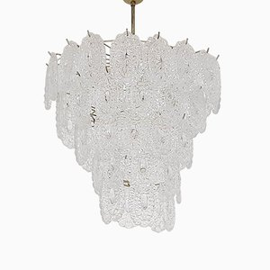 Mid-Century Glass Chandelier by Mazzega, Italy, 1960s