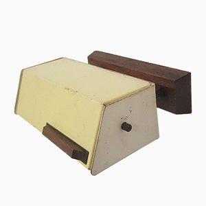 Gelbe Metall und Holz Wandlampe von Cosack, 1960er