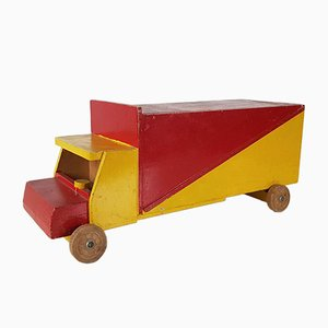 Vintage Wooden Toy Truck Attributed to Ko Verzuu for ADO, the Netherlands, 1950s