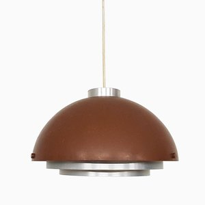Mid-Century Space Age Brown Pendant Lamp, 1950s