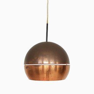 Mid-Century Copper Globe Pendant Lamp, 1950s