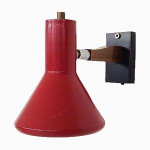 Rote Vintage Wandlampe