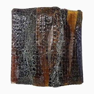 Brutalist Dutch Glass Sconce from Studio Tetterode, 1960s