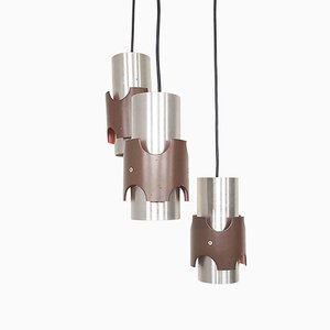 Vintage Metal Tube Ceiling Lamp in the Style of Fog & Morup