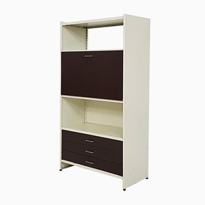 Brown and Beige Metal Model 5600 Cabinet by A. R. Cordemeyer for Gispen