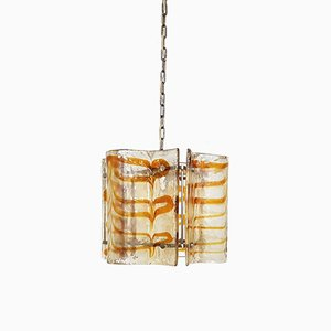 Italian Murano Glass Ceiling Lamp by Carlo Nason for AV Mazzega, 1970s