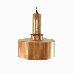 Lampe à Suspension Modèle T292 Mid-Century en Cuivre par Hans-Agne Jakobsson pour Markaryd, 1960s