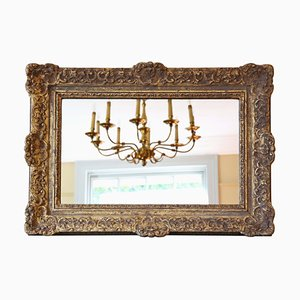 Antique 19th Century Gilt Overmantle Wall Mirror