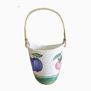Cesto da frutta in ceramica di Schramberg Keramik, anni '60