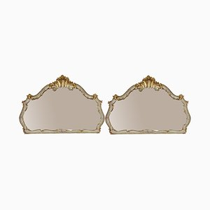 Large Antique 19th Century Gilt Wall Wall Mirrors, Set of 2