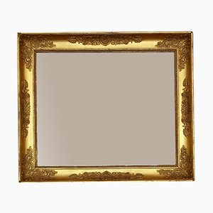 Large Antique 19th Century Gilt Overmantle Wall Mirror