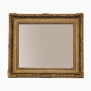 Grand Miroir Mural Antique 19ème Siècle Doré