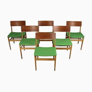 Vintage Danish Teak and Oak Dining Chairs from Farstrup Møbler, Set of 6