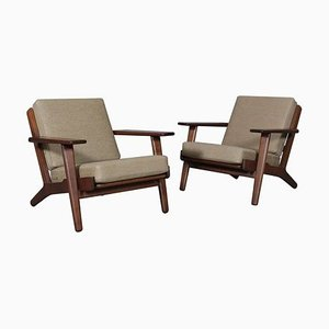 Eichenholz Modell 290 Sessel von Hans J. Wegner für Getama, 1970er, 2er Set