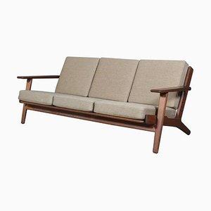 Eichenholz Modell 290 3-Sitzer Sofa von Hans J. Wegner für Getama, 1970er