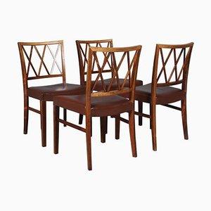 Palisander Esszimmerstühle von Ole Wanscher, 1950er, 4er Set