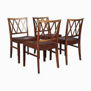 Rosewood Dining Chairs by Ole Wanscher, 1950s, Set of 4